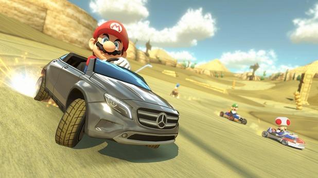 Svenska Mario Kart 8-spelare får Mercedes SUV som DLC i sommar