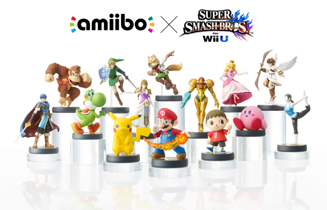 Super Smash Bros för Wii U släpps i december, Amiibo i november